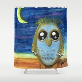 Living by the Light of the Moon Shower Curtain