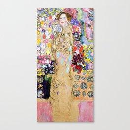 "Gustav Klimt ""Portrait of Maria Munk (unfinished)"" Canvas Print"
