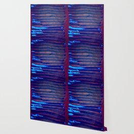 Blue Ice Lines Stripe Wallpaper