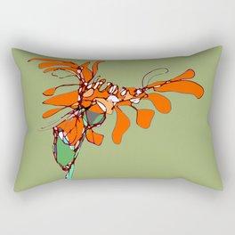 Autumn Olive Gerbera Rectangular Pillow