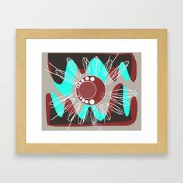Burgundy swirls Framed Art Print