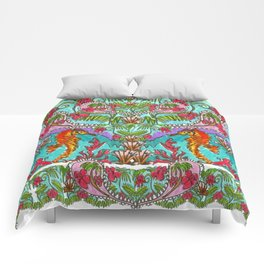 Seahorse Paisley Comforters