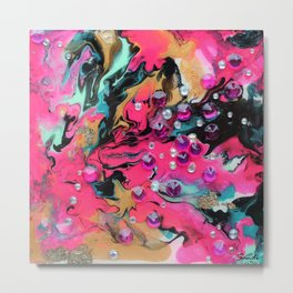 Abstract 7 Pink Metal Print