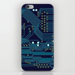 Dark Circuit Board iPhone Skin