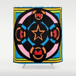 Unique Art Colouring Shower Curtain