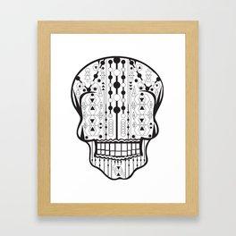 B/W Skull 2 Framed Art Print