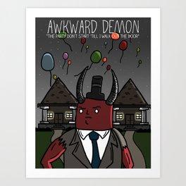 Awkward Party Poster Art Print