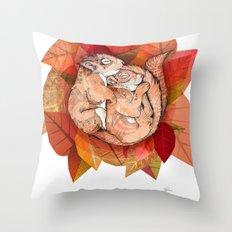 Squirrel Spoon Throw Pillow
