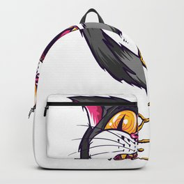 psychedelic cat - on LSD and ecstasy Backpack