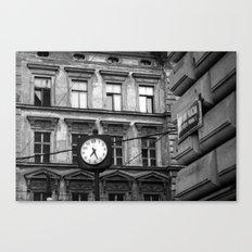 Prague 7:27 Canvas Print