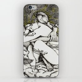 Lovers in the sky iPhone Skin