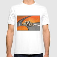 vintage Isle of Man TT motor race poster X-LARGE White Mens Fitted Tee