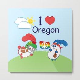 Ernest and Coraline | I love Oregon Metal Print