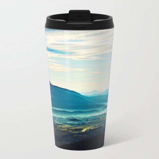 Blue Vista Metal Travel Mug