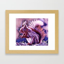 The American Red Pine Squirrel Framed Art Print