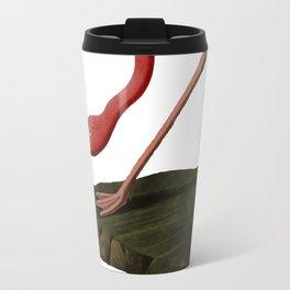 Flamingo Large Print Travel Mug
