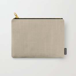 Neutral Beige Tan Light Brown Solid Color Parable to Sherwin Williams Ramie SW 6156 Carry-All Pouch