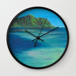 Kaneohe Sandbar Wall Clock