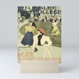 wellesley college   may scribners. 1898  oude poster Mini Art Print