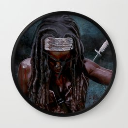 Michonne And Her Sword - The Walking Dead Wall Clock