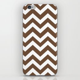 Tuscan brown - brown color - Zigzag Chevron Pattern iPhone Skin
