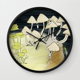Forest creatures Wall Clock