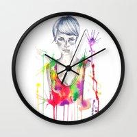 acid Wall Clocks featuring acid by Lua Fraga