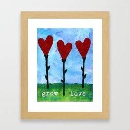 grow love Framed Art Print