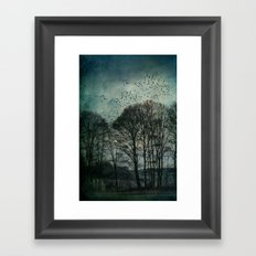 Textured Trees Framed Art Print