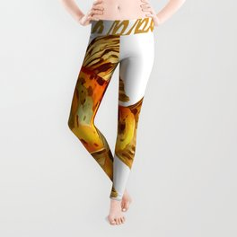Elegant Happy Nowruz Goldfish Persian New Year Leggings