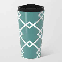 Diamonds (teal) Metal Travel Mug