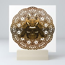 Mandala, skeleton and eagle Mini Art Print