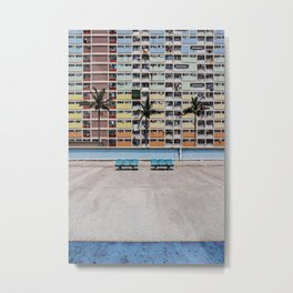 Rainbow Estate | Hong Kong  Metal Print