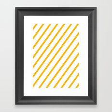 Yellow summer stripes Framed Art Print