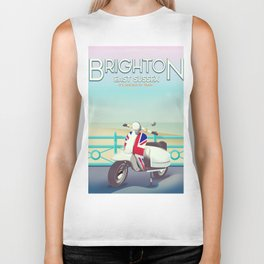 Brighton Union Scooter travel poster, Biker Tank
