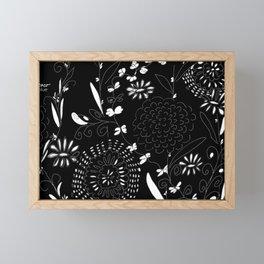 black toile by cocoblue Framed Mini Art Print