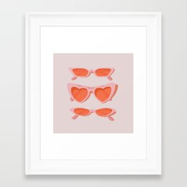 rose tinted Framed Art Print
