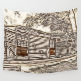 Beautiful old stables Wall Tapestry