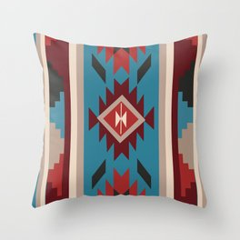 American Native Pattern No. 15 Throw Pillow