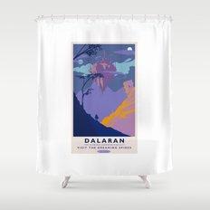 Dalaran Classic Rail Poster Shower Curtain
