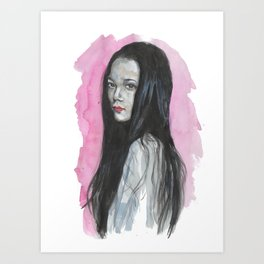 Innocent Chinese Girl Art Print