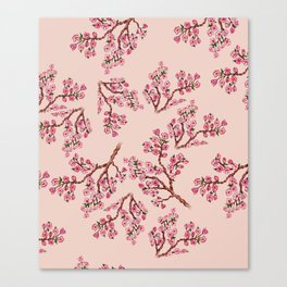 Sakura Branch Painting Canvas Print
