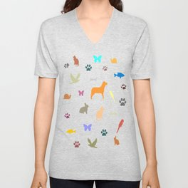 Animal Lovers Art Work Unisex V-Neck