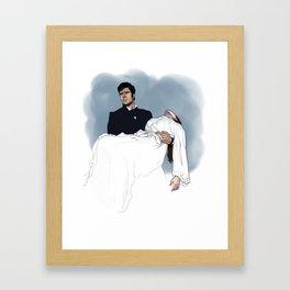 Heathcliff and Cathy Framed Art Print