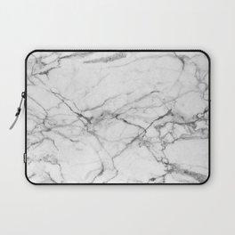 White Marble Stone Laptop Sleeve
