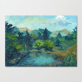 Lake Tekapo In Cambridge, New Zealand Canvas Print