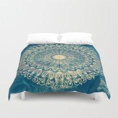 BLUE ORGANIC MANDALA Duvet Cover