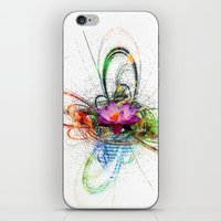 lotus flower iPhone & iPod Skins featuring Lotus by haroulita