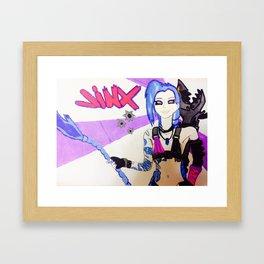 jinx (white variant) Framed Art Print