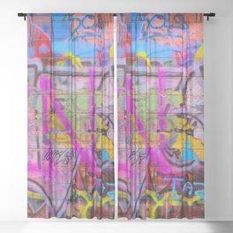 Bright Graffiti Sheer Curtain